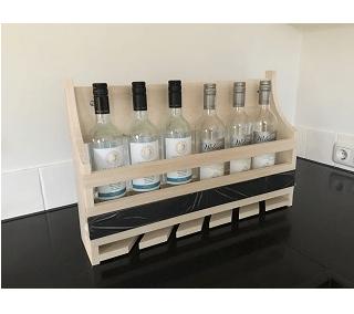 wijnrek hangend ruimte voor wijn- of likeurflessen