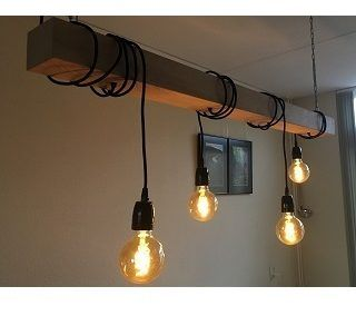 lamp eiken balk