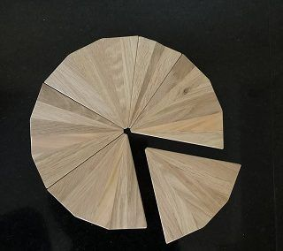 Serveerplank partjes (resthout) met onderplaat